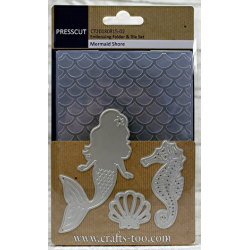 Mermaid Shore Embossing Folder and Die Set