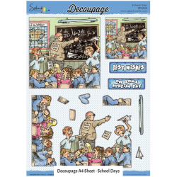 Decoupage  Non Die Cut  - School Days