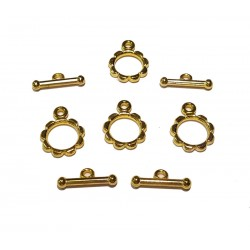 Bead Cafe Gold T Bars & Rings, Set of 4