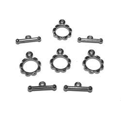 Bead Cafe Silver T Bars & Rings, Set of 4