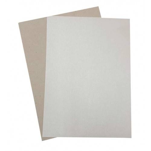 A4 Greyboard Card and Silver Pearl Paper - Pack of 25
