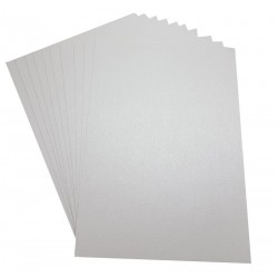 A4 White Pearlescent Silver Shimmer Card 300gsm - Pack of 10