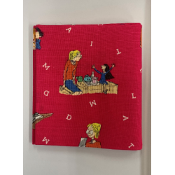 Roald Dahl Matilda on Cerise Backround Fat Quarter 100% Cotton Fabric
