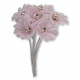 Silk Pink Daisy with Diamante - 6 Stems Embellishment