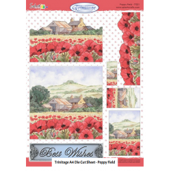 Die Cut Trinitage - Poppy Field