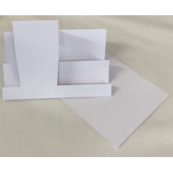 C5 White Side Stepper Card Blanks And Envelopes Pack of 5