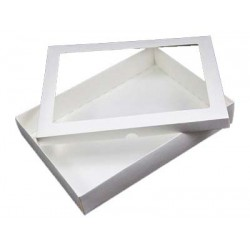 6 x 10 White Keepsake Greeting Card Box with Acetate