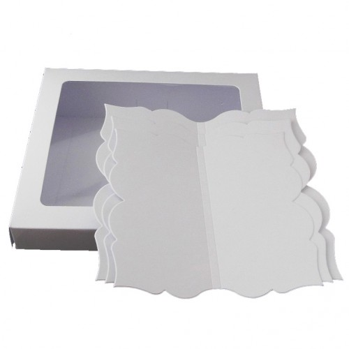 6 x 6 White Open Book Card Set