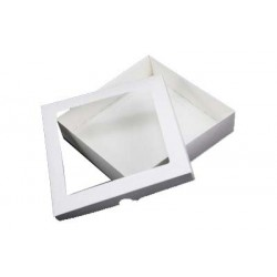 5 x 5 White Aperture Card Box With Acetate