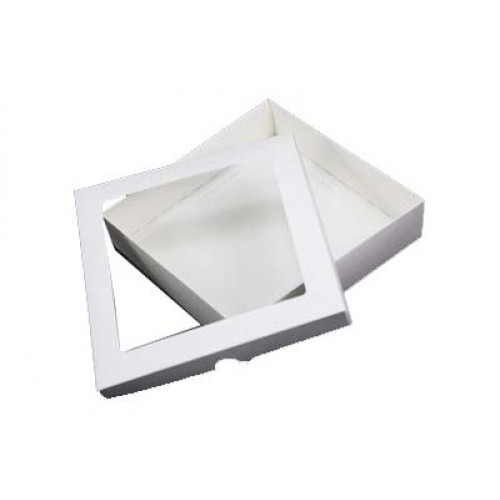 7 x 7 White Aperture Card Box With Acetate