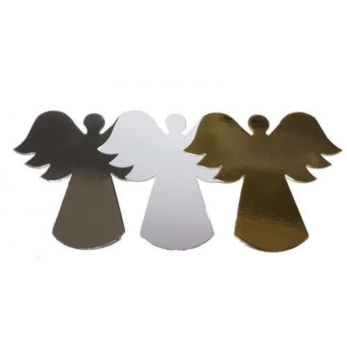 Christmas Angels Die Cut Shapes - Silver Mirror