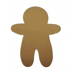 Christmas Gingerbread Man Die Cut Shapes - Kraft