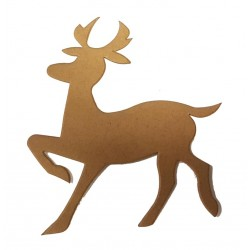 Christmas Reindeer Die Cut Shapes - Kraft