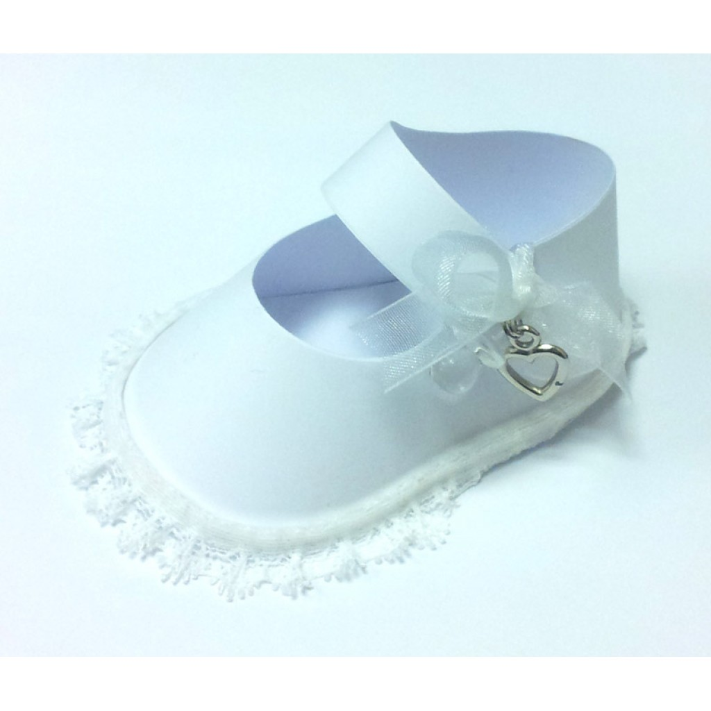 Baby Shoe Template | White Baby Shoe Gift Box Template