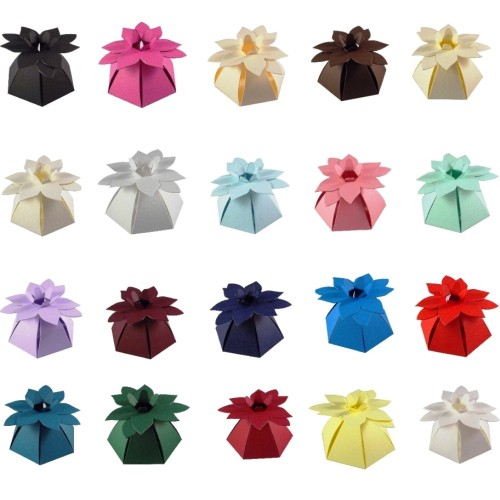 Flower Top Wedding Favour Boxes