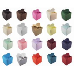 Heart Top Wedding Favour Boxes