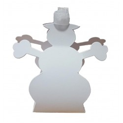 Snowman Favour Boxes - Pack of 10 (White)