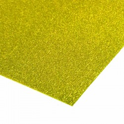 Non Shed Gold Glitter Card - 1 A4 Sheet 225gsm
