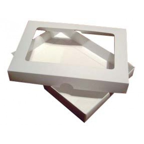 5 x 7 White Aperture Card Box With Acetate
