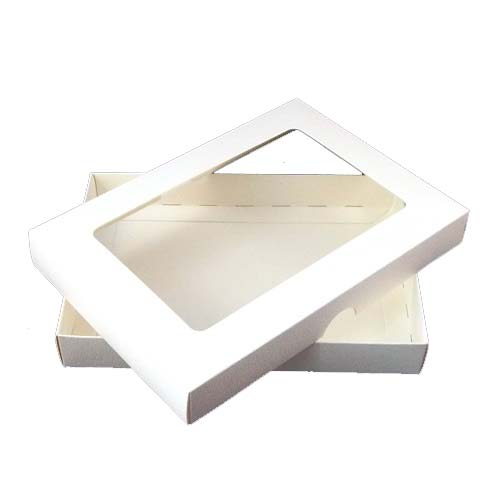 A6 White Aperture Card Box With Acetate