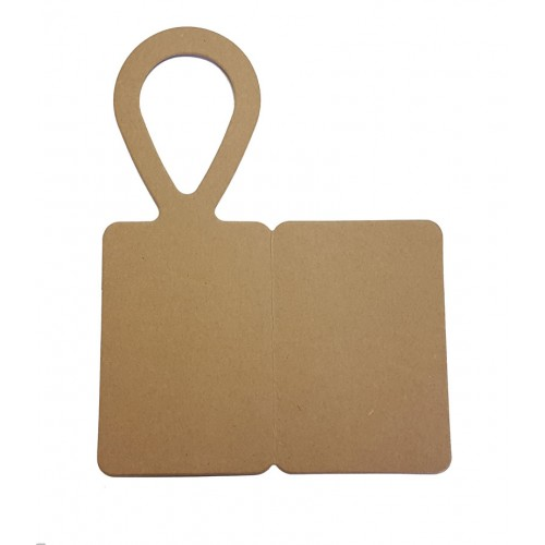 Bottle Tags, Kraft Card - Foldable - Pack of 5