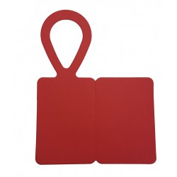 Bottle Tags, Red Card - Foldable - Pack of 5