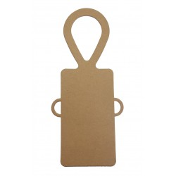 Bottle Tags, Kraft Card - with Ribbon Holes - Pack of 5