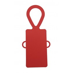 Bottle Tags, Red Card - with Ribbon Holes - Pack of 5