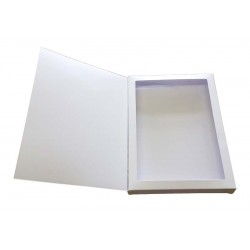A6 White Aperture Gift Card Box With Acetate and Door