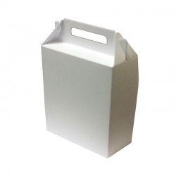 White Gift Box with Handle