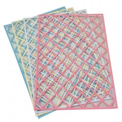 A4 Mixed Diamond Trellis Card Pack 2 - Essential Crafts