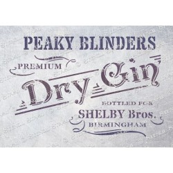 Peaky Blinders Gin Stencil - A5