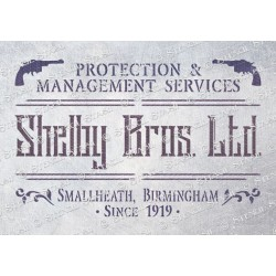 Peaky Blinders Shelby Ltd Stencil - A5