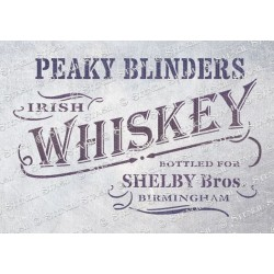 Peaky Blinders Whiskey Stencil - A5