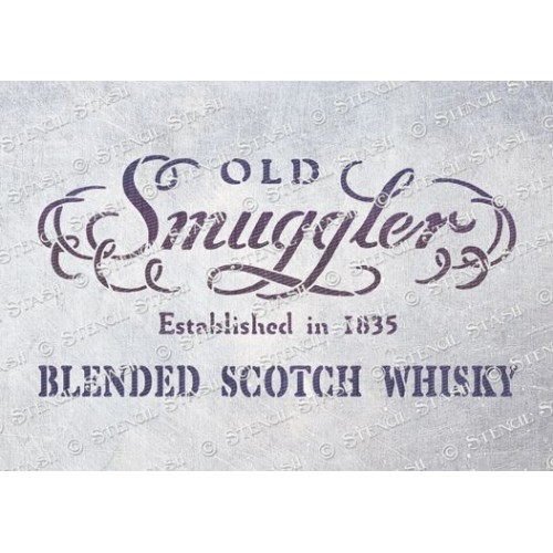 Smugglers Whisky Stencil - A5