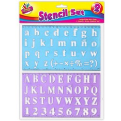 Lettering Stencils - Pack of 2