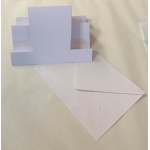 C5 White Middle Stepper Card Blanks And Envelopes Pack of 5