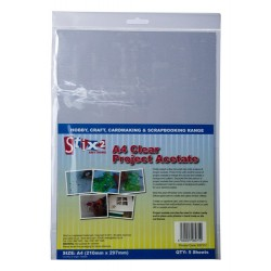 A4 Clear Project Acetate Sheets pack of 5 100 micron