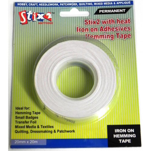 Stix 2 With Heat Iron On Hemming Tape 20mm x 20m