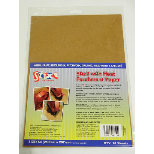 Stix 2 With Heat - Parchment Paper - A4 Sheets