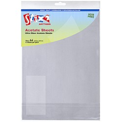 A4 Clear Printable Acetate Sheets pack of 5