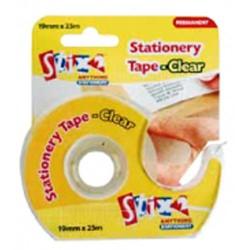 Stix 2 Clear Stationary Tape - 19mm x 25m