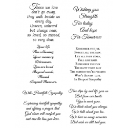 Easy Peel Self Adhesive Sympathy Verses 6 by Essential Crafts