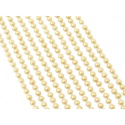 500 Mini Gold Round Pearls 3mm Flat Backed Round Self Adhesive Beads
