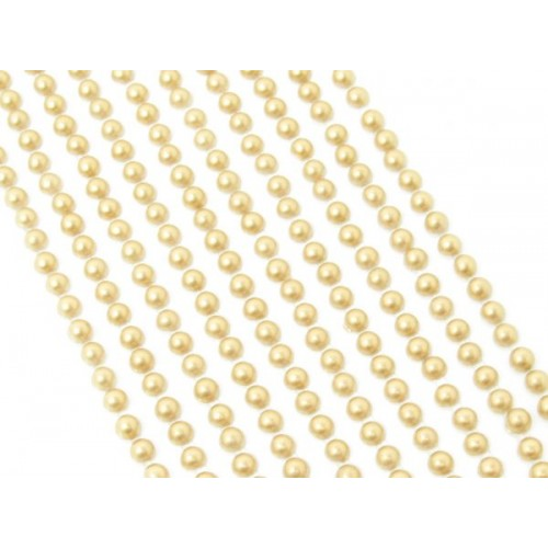 500 Mini Gold Round Pearls 3mm Flat Backed Round Self Adhesive Beads