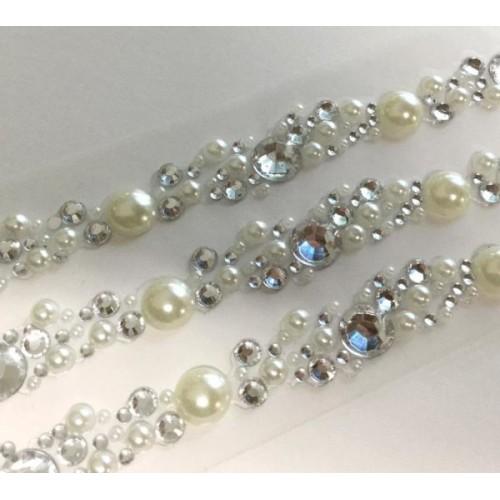 Siena Pearl & Crystal Cluster Self Ashesive Embellishment
