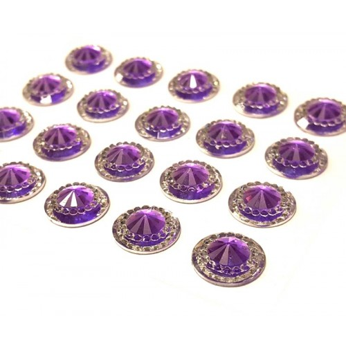 Capri Amethyst Mini Crystals 12mm - Pack of 40