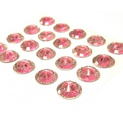 Pisa Pink Mini Crystals 12mm - Pack of 40