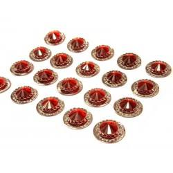 Rimini Ruby Mini Crystals 12mm - Pack of 40
