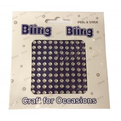 Bling Bling Peel & Stick Clear Gems 3mm - Pack of 100